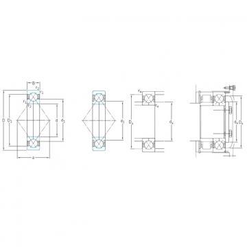 SKF QJ317N2MA angular contact ball bearings