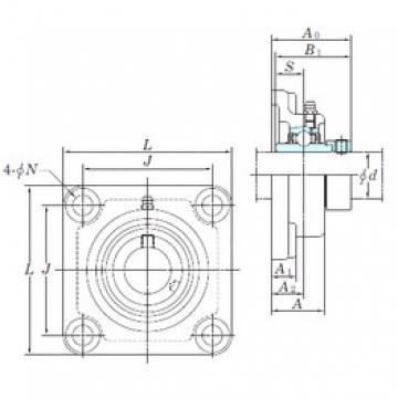 KOYO NANF212-39 bearing units