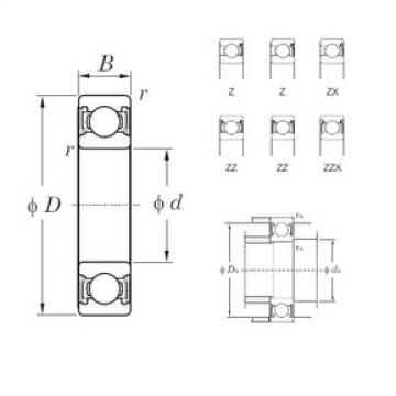 KOYO 6021ZZX deep groove ball bearings