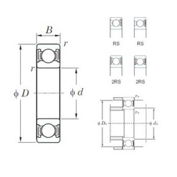 KOYO 6309-2RS deep groove ball bearings