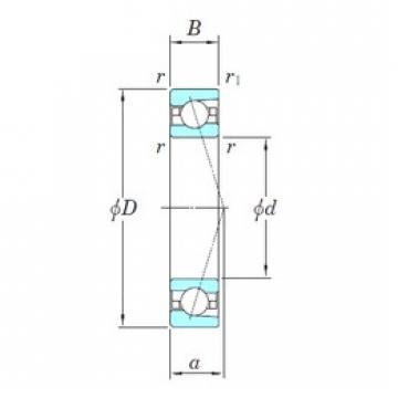 KOYO 3NCHAC012C angular contact ball bearings