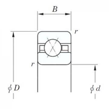 KOYO KDX065 angular contact ball bearings