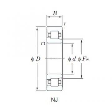 KOYO NJ310 cylindrical roller bearings