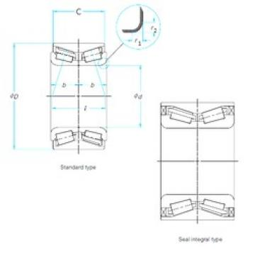 SKF BTHB1866046AA/QVC025 tapered roller bearings