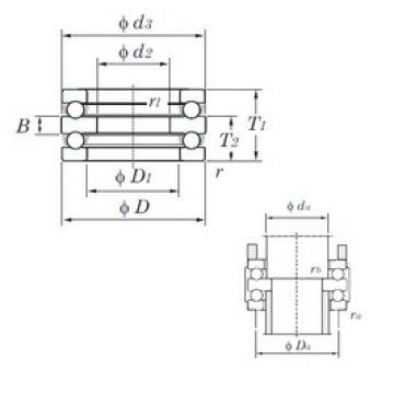 KOYO 52405 thrust ball bearings
