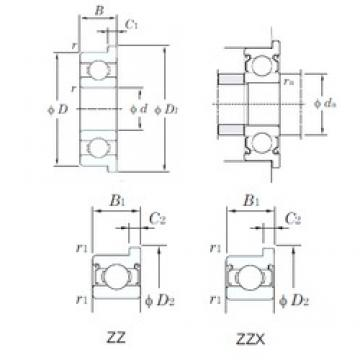 KOYO WMLF2006ZZ deep groove ball bearings