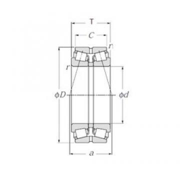 NTN 423134E1 tapered roller bearings