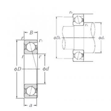 NTN 7034C angular contact ball bearings