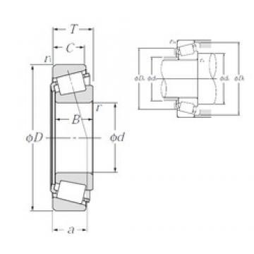 NTN 4T-687/672 tapered roller bearings
