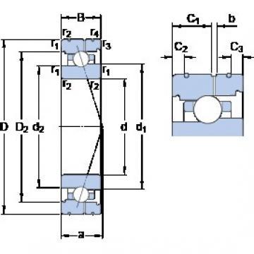 SKF 71918 CB/HCP4AL angular contact ball bearings