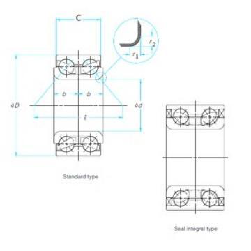 NTN AU0915-2LX4LX5/L588 angular contact ball bearings
