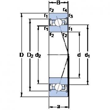 SKF S7007 CB/HCP4A angular contact ball bearings