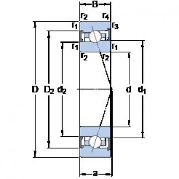 SKF S71912 ACB/P4A angular contact ball bearings