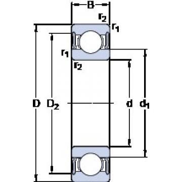 SKF 6032-2RS1 deep groove ball bearings