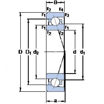 SKF 707 ACE/P4A angular contact ball bearings