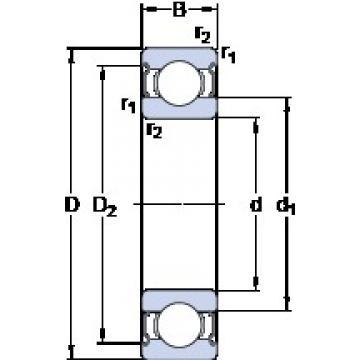 SKF RLS 6-2Z deep groove ball bearings