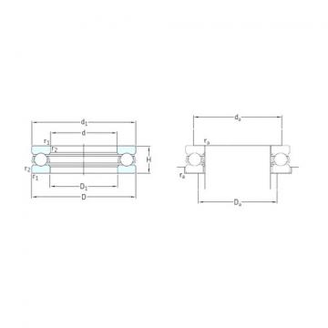 SKF 51305 thrust ball bearings