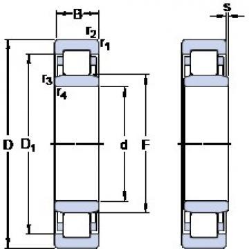 SKF NU 326 ECML thrust ball bearings