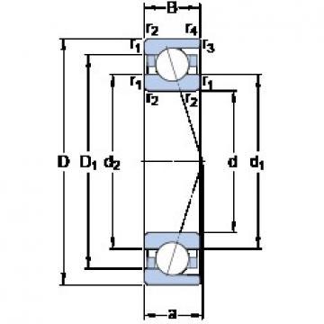 SKF 7022 ACD/HCP4A angular contact ball bearings