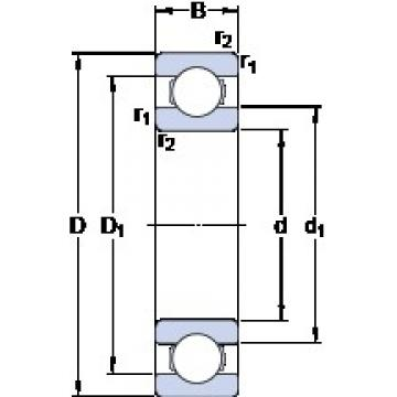 SKF 6332 M deep groove ball bearings