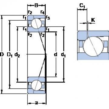 SKF 71928 ACD/HCP4AH1 angular contact ball bearings