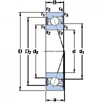 SKF S7000 CE/P4A angular contact ball bearings