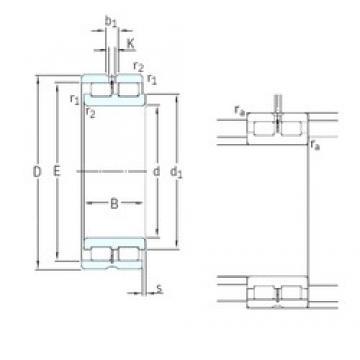 SKF NNCL4844CV cylindrical roller bearings