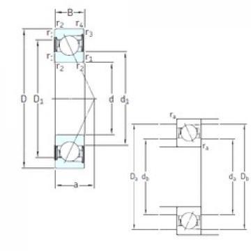 SKF S729 CD/HCP4A angular contact ball bearings