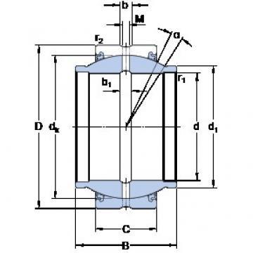 SKF GEM 80 ES-2LS plain bearings