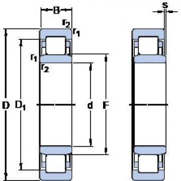 SKF NU 3156 ECMA thrust ball bearings