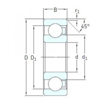 SKF 629/HR22T2 deep groove ball bearings