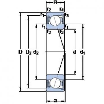 SKF S7020 CD/P4A angular contact ball bearings