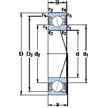 SKF S71901 ACD/P4A angular contact ball bearings
