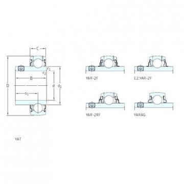SKF YAR207-106-2RF/HV deep groove ball bearings